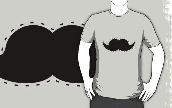 Cutout Moustache by Teague Hipkiss