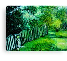 painting the old fence Canvas Print