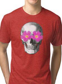 Flowering skull  Tri-blend T-Shirt