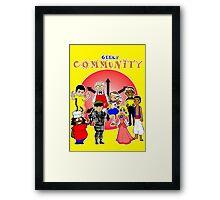 geeky community  Framed Print