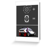 Forced Induction Equation 2 (White) Greeting Card