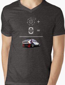 Forced Induction Equation 2 (White) Mens V-Neck T-Shirt