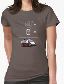 Forced Induction Equation 2 (White) Womens Fitted T-Shirt