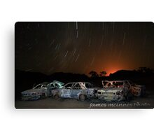 Red Desert Nights Canvas Print