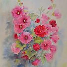 Hollyhocks by Beatrice Cloake