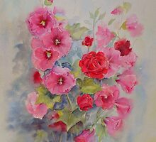 Hollyhocks by Beatrice Cloake Pasquier