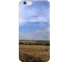 Barley field landscape. iPhone Case/Skin