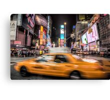 Taxi in times square Canvas Print