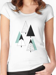 Pine Trees Women's Fitted Scoop T-Shirt
