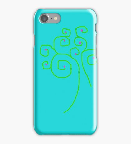 Happy, Fun, Swirly Tree YAY!!! iPhone Case/Skin