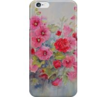 Hollyhocks iPhone Case/Skin