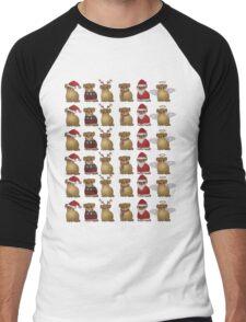 Christmassy pugs Men's Baseball ¾ T-Shirt