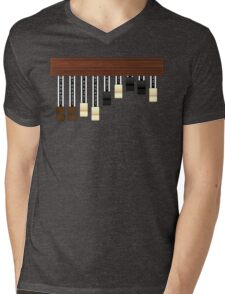 Drawbars Mens V-Neck T-Shirt