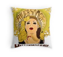 """Professor River Song's Hallucinogenic Lipstick"" Throw Pillow"