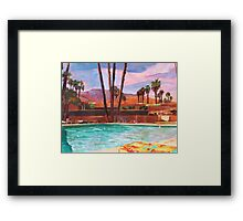 The Palm Springs Pool Framed Print