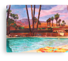 The Palm Springs Pool Canvas Print