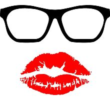 Nerd Glasses and Kiss Photographic Print