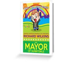 Richard Wilkins for Mayor Greeting Card