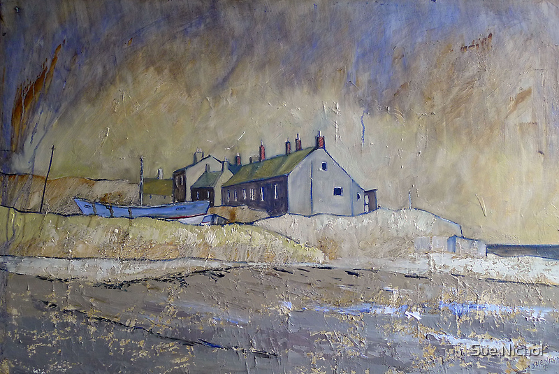 Cottages at Boulmer, Northumberland by Sue Nichol