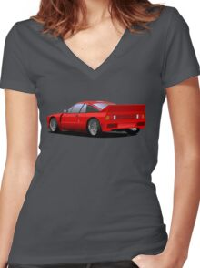 Lancia Rally 037 Stradale Women's Fitted V-Neck T-Shirt