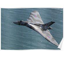 Vulcan Bomber Topside at Eastbourne Poster