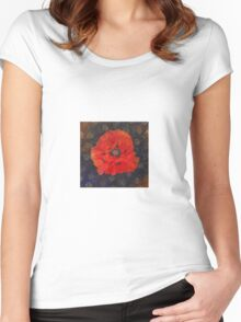 Poppy Psychedelic  Women's Fitted Scoop T-Shirt