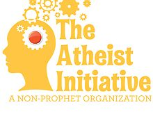 The Atheist Initiative Logo - Red Button by Atheists