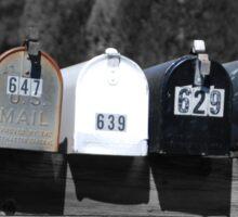 Mailbox art Sticker