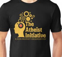 The Atheist Initiative Logo - Red Button Unisex T-Shirt