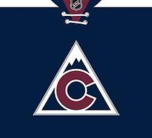 Colorado Avalanche Alternate Jersey by Russ Jericho