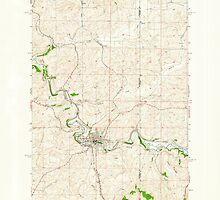 USGS Topo Map Washington State WA Palouse 243069 1964 24000 by wetdryvac