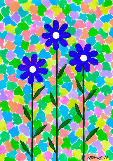 FLOWERS - AQUAREL AND GOUACHE by RainbowArt