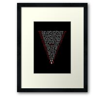V for Vendetta - Who are you? Framed Print