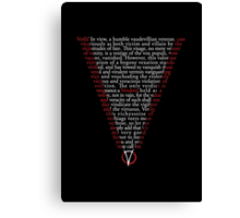 V for Vendetta - Who are you? Canvas Print
