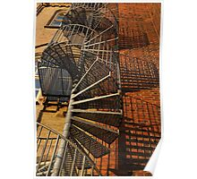 Winding Fire Escape Poster