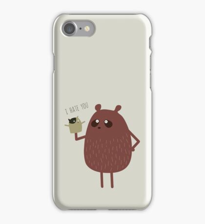 bears and squirrel in the snow iPhone Case/Skin