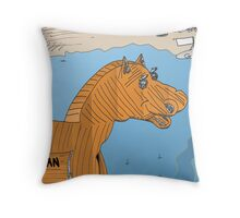 Cheval de Troie EURO pour les Grecs Throw Pillow
