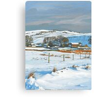 Winter on the farm Canvas Print