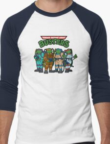 Teenage Mutant Ghost Busters Men's Baseball ¾ T-Shirt