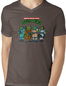 Teenage Mutant Ghost Busters Mens V-Neck T-Shirt