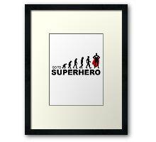 evolution superhero Framed Print