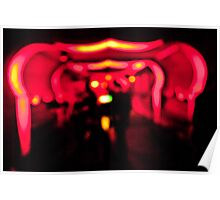 Abstract #1 - Red Arches Poster