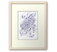 0806 - Very Beginning of Everything and Nothing Framed Print