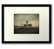 A tirolina da praia da Concha Framed Print