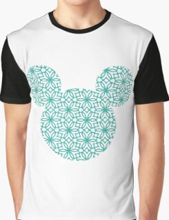 Mouse Turquoise Geometric Silhouette Graphic T-Shirt