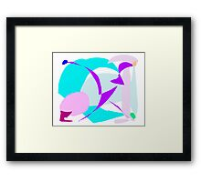 Cool Soft Water Nature Ice Bird Glacier Framed Print