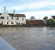 Three Horse Shoes Pub on the River Don Doncaster 2007 by Peterwlsn