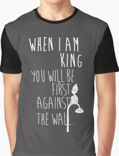 """When I am King, you will be first against the wall."" Radiohead - Light Graphic T-Shirt"