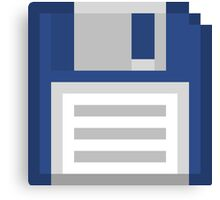Pixel Floppy Disk Canvas Print