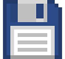 Pixel Floppy Disk Photographic Print